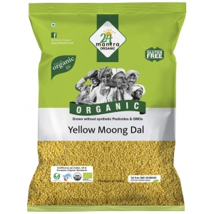 24 Mantra Organic Yellow Moong Dal 500 GM