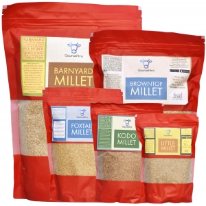 Millets Saver Pack of 5 - 1KG Foxtail, Kodo, Little, Browntop & Barnyard Millets