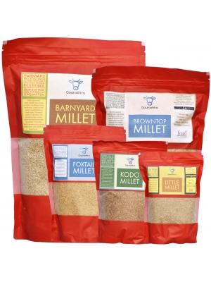 Millets Saver Pack of 5 - 1KG Foxtail, Kodo, Little, Browntop & Barnyard Millets