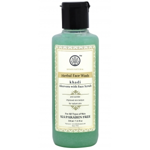 Khadi Aloe Vera Face Wash with Scrub 210 ML