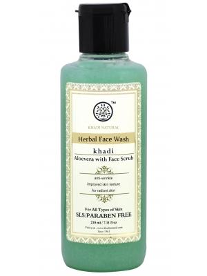Khadi Aloe Vera Face Wash with Scrub 210 ML