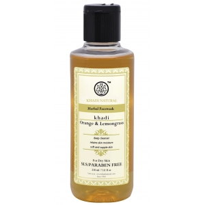 Khadi Orange Lemon Grass Face Wash 210 ML